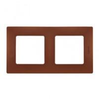 Plaque 2 postes Niloé - Cacao