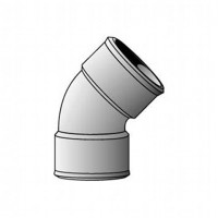 Coude FF 45° diamètre 100
