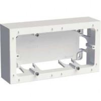 Boîte pour montage en saillie - 2 postes entraxe 71 mm - Blanc
