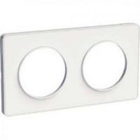 Plaque 2 postes Odace Touch - Blanc - S520804 - Schneider