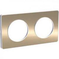 Plaque 2 postes Odace Touch - Bronze brossé