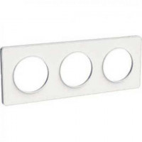 Plaque 3 postes Odace Touch - Blanc - Schneider - S520806