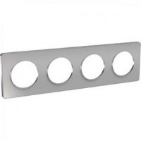 Plaque 4 postes Odace Touch - Alu