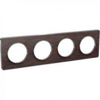 Plaque 4 postes Odace Touch - Wenge