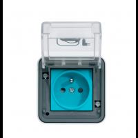 Prise saillie pour véhicule électrique Witty IP55 3KW 2P+T M2+ saillie XEV080 HAGER