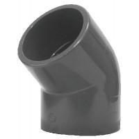 Coude PVC pression 45° FF 32
