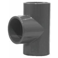Té égal PVC pression 90° FFF 50