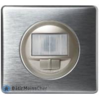 Ecodétecteur avec marche/arrêt Céliane titane - Plaque Aluminium