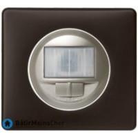 Ecodétecteur avec marche/arrêt Céliane titane - Plaque Basalte