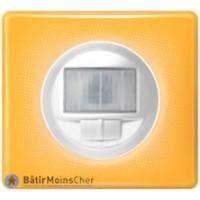 Ecodétecteur avec marche/arrêt Céliane blanc - Plaque Today jaune