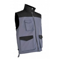 Gilet multipoches gris / anthracite
