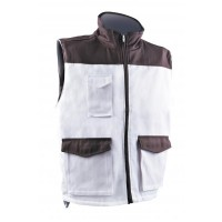 Gilet multipoches blanc