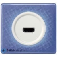 Prise HDMI Céliane blanc - Plaque 90's violette