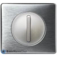 Poussoir doigt étroit Céliane titane - Plaque aluminium