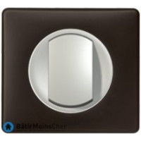 Bouton poussoir Céliane titane - Plaque Basalte