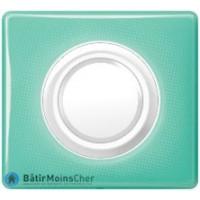 Lampe débrochable autonome Céliane blanc - Plaque 50's turquoise