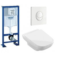 Lot complet bâti support Grohe + cuvette Joyce Villeroy