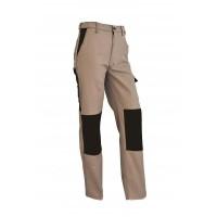 Pantalon de travail Confort beige / chocolat