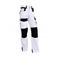 Pantalon de travail Elite blanc/gris