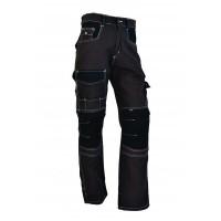 Pantalon de travail Elite anthracite/noir et surpiqûres blanches