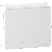 Habillage + porte blanc panneau de contrôle 13 modules