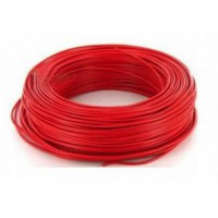 Fil H07VU 6mm² Rouge en 100m