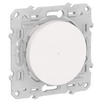Poussoir variateur connecté Odace Wiser Bluetooth - blanc S520522 Schneider