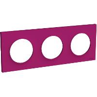 Plaque 3 postes Odace Styl - Violine