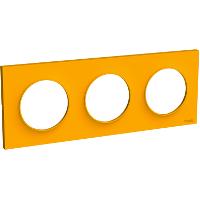 Plaque 3 postes Odace Styl - Ambre