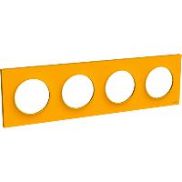 Plaque 4 postes Odace Styl - Ambre