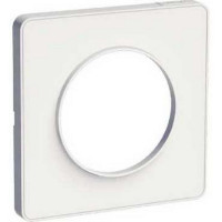 Plaque 1 poste Odace Touch - Blanc