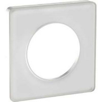 Plaque 1 poste Odace Touch - Translucide blanc