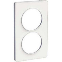 Plaque 2 postes entraxe 57mm Odace Touch - Blanc