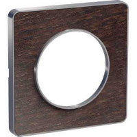 Plaque 1 poste Odace Touch - Wenge