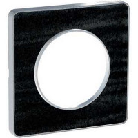 Plaque 1 poste Odace Touch - Chêne Astrakan noir