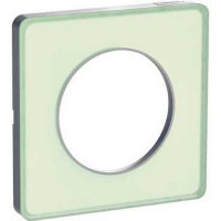 Plaque 1 poste Odace Touch - Translucide vert