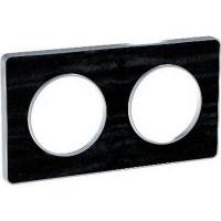Plaque 2 postes Odace Touch - Chêne Astrakan noir