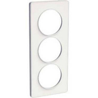 Plaque 3 postes entraxe 57mm Odace Touch - Blanc