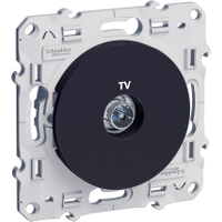 Prise TV simple Odace - Anthracite