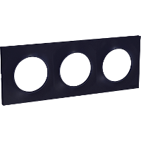 Plaque 3 postes Odace Styl - Anthracite
