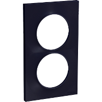 Plaque 2 postes Odace Styl entraxe 57mm - Anthracite