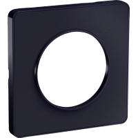 Plaque 1 poste Odace Touch - Anthracite