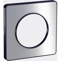 Plaque 1 poste Odace Touch - Aluminium brossé
