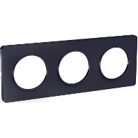Plaque 3 postes Odace Touch - Anthracite