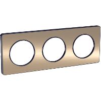 Plaque 3 postes Odace Touch - Bronze brossé