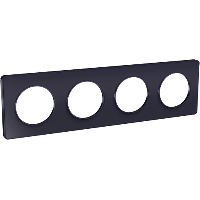 Plaque 4 postes Odace Touch - Anthracite