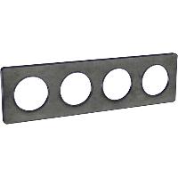 Plaque 4 postes Odace Touch - Ardoise