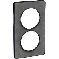 Plaque 2 postes Odace Touch entraxe 57mm - Ardoise