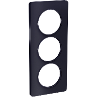 Plaque 3 postes Odace Touch entraxe 57mm - Anthracite