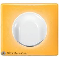 Sortie de câble Céliane blanc - Plaque Today jaune